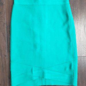 Bebe Turquoise Bodycon Skirt - XS